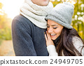 Beautiful young couple in love, hugging. Sunny 24949705