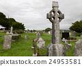 公墓 坟墓 基石 24953581