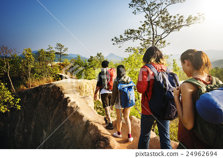 People Hiking Mountain Adventure Concept 24962694