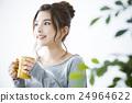 女性 電腦線上鑑識證據擷取器 咖啡 24964622