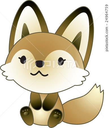 坐下 坐 狐狸 24964759