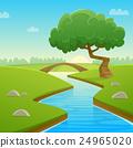 Summer Cartoon Landscape 24965020