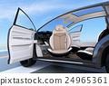 แนวคิดของ SUV ยานพาหนะไฟฟ้าที่ง่ายต่อการขึ้นและลงด้วยที่นั่งผู้โดยสาร 24965361