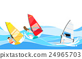 海 帆板運動 笑臉 24965703
