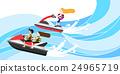 摩托艇 海浪 波动 24965719