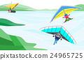 人物 人 滑翔機 24965725