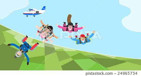 極限運動 跳 跳傘 24965734