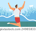 男性 男人 马拉松赛跑 24965833