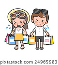 夫婦 購物袋 購物 24965983