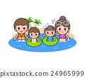 海滩 家庭 家族 24965999