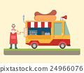 快餐 卡車 商店 24966076