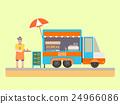 果汁 卡車 商店 24966086