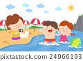 海灘 男孩 女孩 24966193
