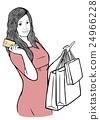 購物 購物袋 女人 24966228