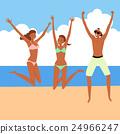 海灘 跳 男性 24966247
