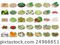 矢量 淡水魚 山野菜 24966651