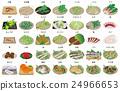 矢量 淡水魚 山野菜 24966653