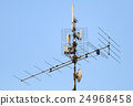 antenna and wi-fi transmitter on the roof 24968458