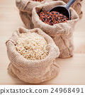 Mixed whole grain traditional thai rices. 24968491