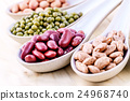 Assortment of beans and lentils . 24968740
