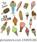 Set of ice-cream. 24969186