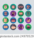 Bookkeeping vector flat icons. 24970529