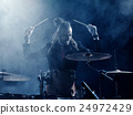 Silhouette drummer on stage. 24972429