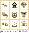 assembly flat icons dog cats pets 24972495