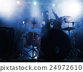 Silhouette of the drummer on stage. 24972610