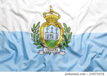 Textile flag of San Marino 24973058