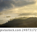Golden sunrise at a mountain in Asia 24973172
