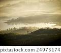 Golden sunrise at a mountain in Asia 24973174
