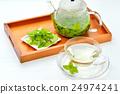 민트 차 / 허브 차 (집 화단에서 딴 민트 잎을 사용) 24974241