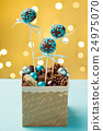 Turquoise cake pops 24975070