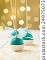 Turquoise cake pops 24975073