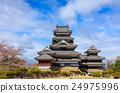 Matsumoto castle in spring season, Nagano, Japan 24975996