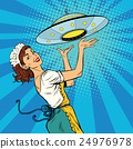 The waitress with UFO 24976978