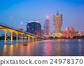 View of Macau city skyline at night 24978370