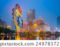 Macau city skyline at night 24978372