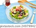 해초 샐러드 (생 미역 보일 새우 등), 간장 드레싱을 곁들여. 24979942