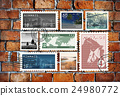 Airmail Mail Postcard Letter Stamp Concept 24980772