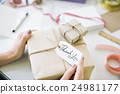 Vintage Present Package Thankyou Message Concept 24981177