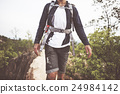 Backpack Cliff Explore Hike Path Trekking Trip Concept 24984142