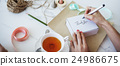 Writing Message On Present Package Decorations Concept 24986675