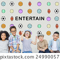 Kids Games Ball Sport Graphics Concept 24990057