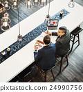 Businessmen Colleagues Discussion Laptop Concept 24990756