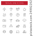travel line icons.vector/eps10. 24992202