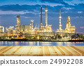 Oil refinery twilight 24992208