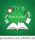 Open Book with back to school creative design. 24994536