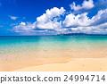 해변, 풍경, 오키나와. 24994714